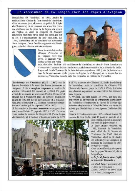 Collonges en Avignon au 14ème siècle